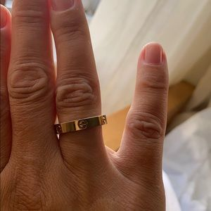 not authentic Cartier look ring